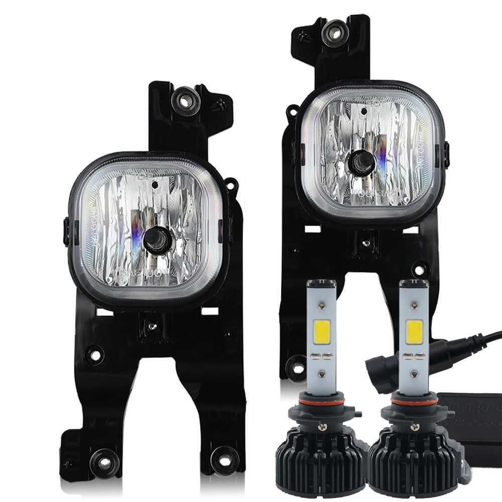 led kit + 2008-2010 ford f250 -f450 fog lights - (super duty) - (wiring kit  included)