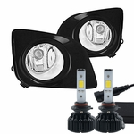 LED Kit + 2009-2012 Toyota Venza Fog Lights - Wiring Kit Included - Clear