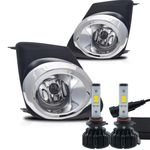 LED Kit + 2011-2013 Toyota Corolla Fog Lights - Wiring Kit Included - Clear