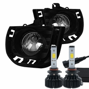 LED Kit + 2014-2015 Scion TC Fog Lights - Clear - (Wiring Kit Included)