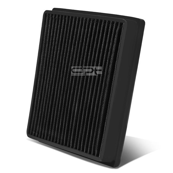 Lexus LX570 / Toyota Land Cruiser Reusable & Washable Replacement High Flow Drop-in Air Filter (Black)