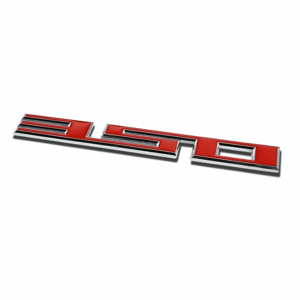Metal Emblem Decal Logo Trim Badge - 350 - Red/Silver Letters