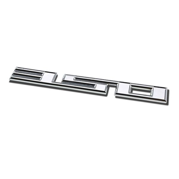 Metal Emblem Decal Logo Trim Badge - 350 - Silver Letters
