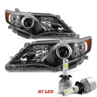 LED Low Beam + 12-14 Toyota Camry SE-Style Projector Headlights - Black