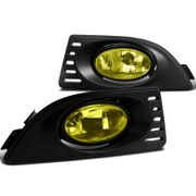 05-07 Acura RSX Yellow Lens Fog Lights Front Driving Bumper Lamps Pair+Switch