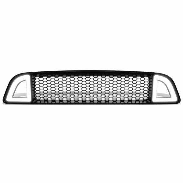 2013-2014 Ford Mustang Base GT Mesh Front Hood Grille w/Chasing LED DRL