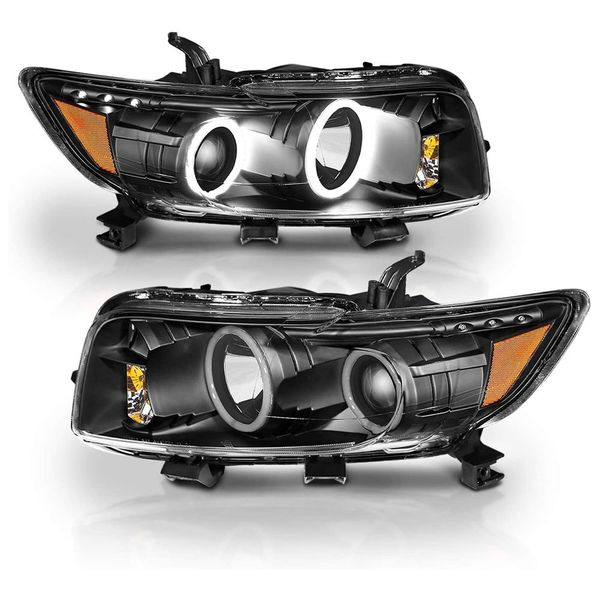 2008-2010 Scion xB Dual LED Halo Projector Headlights - Black