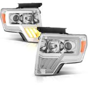 09-14 Ford F150 [Halogen Model] LED Signal / DRL Projector Headlights - Chrome