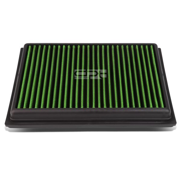 Nissan Sentra / Rogue / Infiniti FX/Q Reusable & Washable Replacement High Flow Drop-in Air Filter (Green)