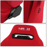 NRG Type-R Red Reclinable Sports Racing Seats+Universal Slider Driver Left Side