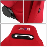 NRG Type-R Red Reclinable Sports Racing Seats+Universal Sliders Passenger Side