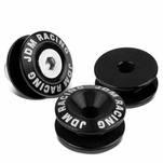 Pack of 4 - Anodized Aluminum Front/Rear Rivet Style Bumper Trunk Quick Release Fastener Kit - Black