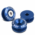 Pack of 4 - Anodized Aluminum Front/Rear Rivet Style Bumper Trunk Quick Release Fastener Kit - Blue