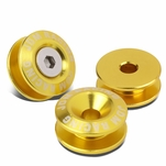 Pack of 4 - Anodized Aluminum Front/Rear Rivet Style Bumper Trunk Quick Release Fastener Kit - Gold