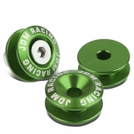 Pack of 4 - Anodized Aluminum Front/Rear Rivet Style Bumper Trunk Quick Release Fastener Kit - Green