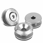 Pack of 4 - Anodized Aluminum Front/Rear Rivet Style Bumper Trunk Quick Release Fastener Kit - Silver