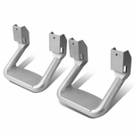 Pair of Aluminum Side Assist Step for Pickups & Trucks - Powder Coated Silver