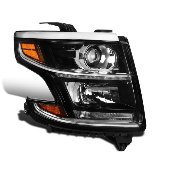 Passenger Side For 2015-2020 Chevy Tahoe Suburban Projector Headlight Black
