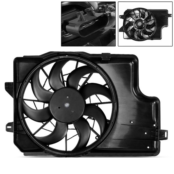 Radiator Condenser Cooling Fan For 1994-1996 Ford Mustang 3.8L V6 FO3115129