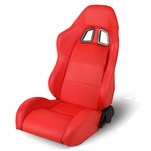 Reclining Red Type-Xl06 Pvc Leather Sporty Bucket Racing Seat Lhs/Driver Side