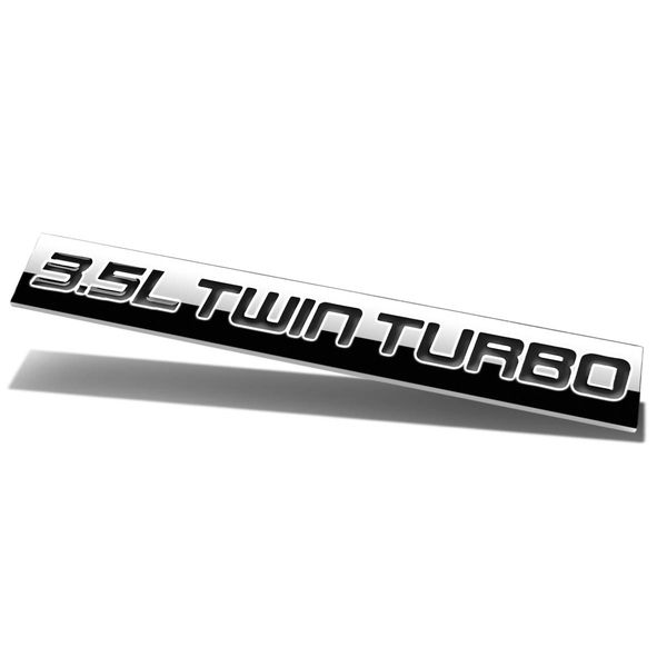 Red & Black Letter -inch 3.5L Twin Turbo-inch Logo Metal Decal Emblem