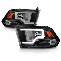 Replacement Headlights LED Bar For 2009-2019 Dodge Ram 1500 2500 3500 - Black
