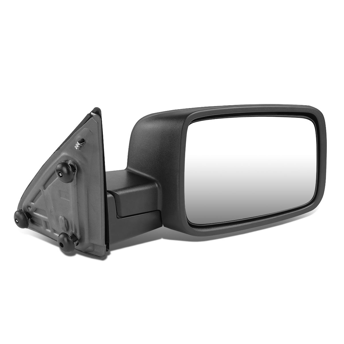 Right Passenger Side Black Manual Replacement Side Mirror For 09 16