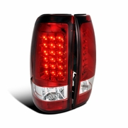 Spec-D 03-06 Chevy Silverado / GMC Sierra Euro Altezza LED Tail Lights - Red / Clear