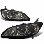 Spec-D 04-05 Honda Civic EX / LX / DX JDM Style Crystal Headlights - Smoked