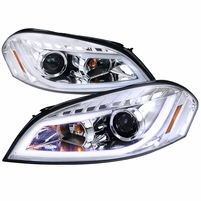 Spec-D 06-13 Chevy Impala LED DRL Strip Projector Headlights - Chrome
