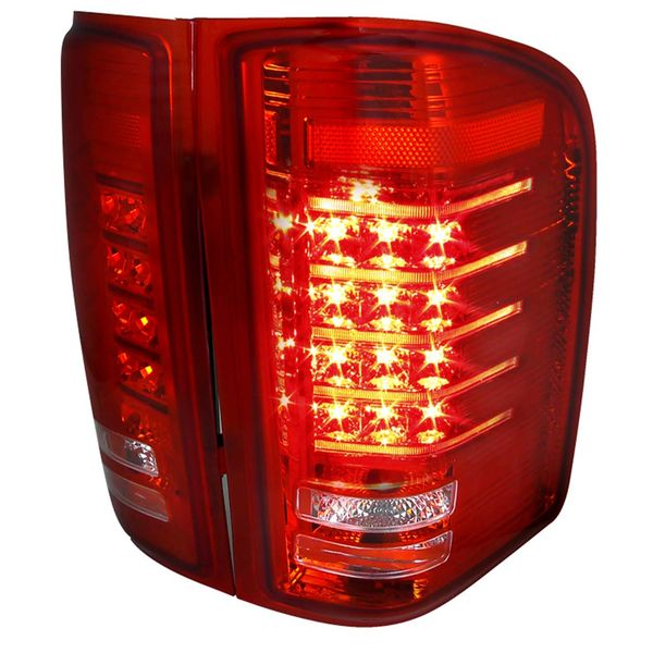 07-14 Silverado 1500 2500 3500 High Performance LED Tail Lights - Red