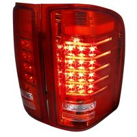 Spec-D 07-14 Silverado 1500 2500 3500 High Performance LED Tail Lights - Red