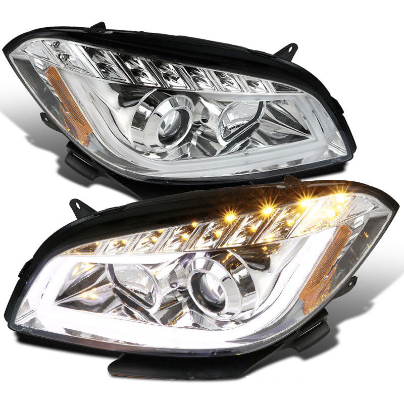 Spec-D 08-12 Chevy Malibu LED DRL Projector Headlights - Chrome