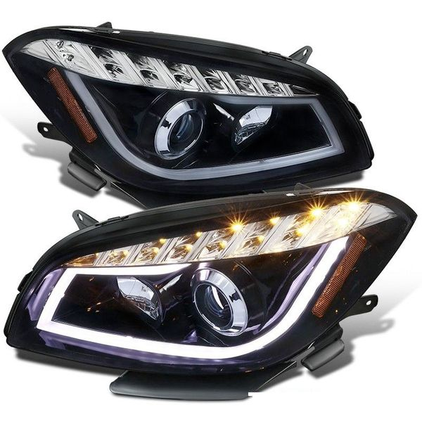 Spec-D 08-12 Chevy Malibu LED DRL Projector Headlights - Smoked