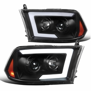 Spec-D® 09-18 Dodge Ram 1500 / 10-18 Ram 2500 Projector Headlights w/ LED DRL & Sequential Switchback - Black