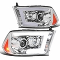 Spec-D® 09-18 Dodge Ram 1500 / 10-18 Ram 2500 Projector Headlights w/ LED DRL & Sequential Switchback - Chrome