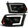 Spec-D® 09-18 Dodge Ram 1500 / 10-18 Ram 2500 Projector Headlights w/ LED DRL & Sequential Switchback - Smoked