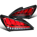 Spec-D 10-15 Hyundai Genesis Coupe Sequential LED 3D Tail Lights - Gloss Black