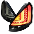 11-13 Ford Fiesta Hatchback LED Tail Lights - Smoked