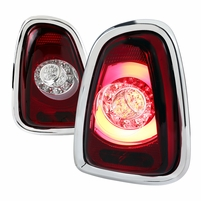 11-14 Mini Coooper Base / S LED Tail Lights - Red Clear