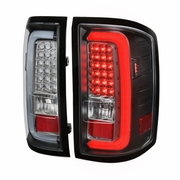 Spec-D 14-17 GMC Sierra 1500 2500HD 3500HD LED Tail Lights - Black
