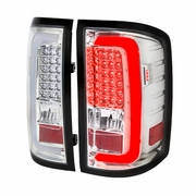 Spec-D 14-17 GMC Sierra 1500 2500HD 3500HD LED Tail Lights - Chrome