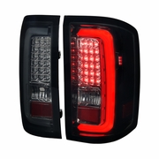Spec-D 14-17 GMC Sierra 1500 2500HD 3500HD LED Tail Lights - Gloss Black
