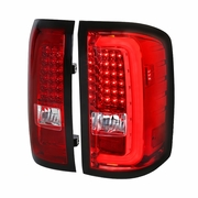 Spec-D 14-17 GMC Sierra 1500 2500HD 3500HD LED Tail Lights - Red