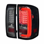 Spec-D 14-17 GMC Sierra 1500 2500HD 3500HD LED Tail Lights - Smoked