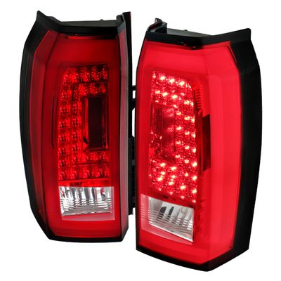 Spec-D 15-2018 Chevy Tahoe Suburban LED Tail Lights - Red