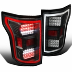Spec-D 15-17 Ford F150 Full LED Rear Tail Lights - Black