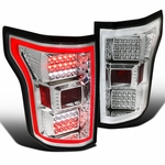 Spec-D 15-17 Ford F150 Full LED Rear Tail Lights - Chrome
