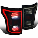 Spec-D 15-17 Ford F150 Full LED Rear Tail Lights - Gloss Black