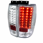 1997-2002 Ford Expedition LED Tail Lights - Chrome